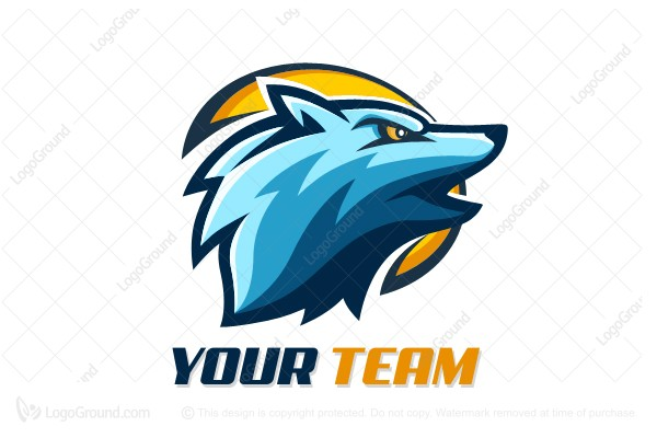 Logo for sale: Blue Wolf Logo