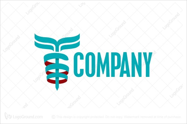 Logo for sale: Blue Caduceus Medical Logo