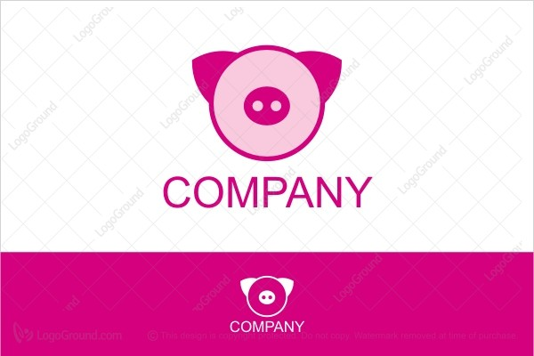 Logo for sale: The Pink Pig Logo