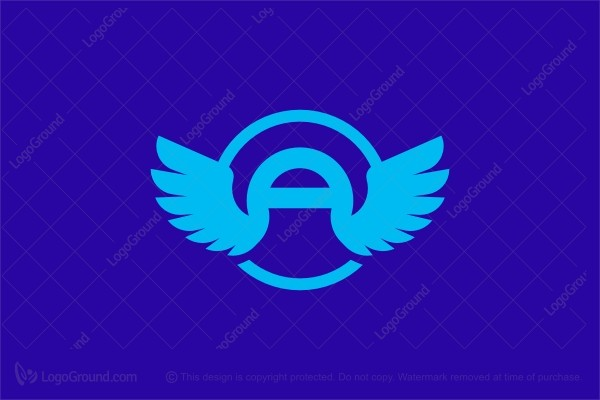 Logo for sale: Letter A With Wings Logo