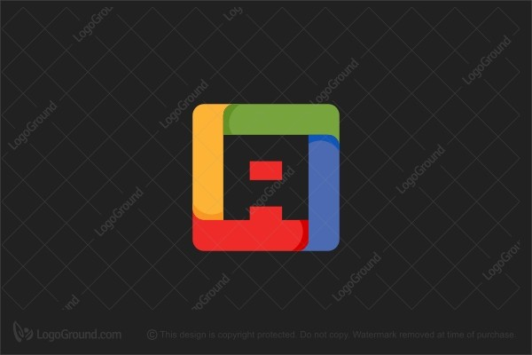 Logo for sale: Colorful Cube Letter A Logo