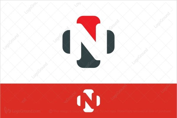 Logo for sale: Red And Black Letter N Logo