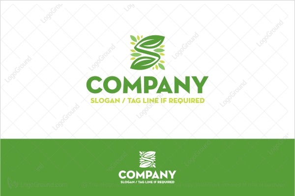 Logo for sale: Beautiful Letter S Plant Logo