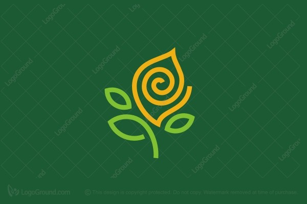 Logo for sale: Green And Gold Plant Logo