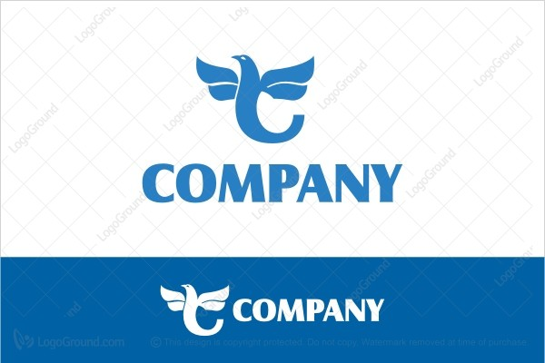 Logo for sale: Blue Bird Letter C Logo