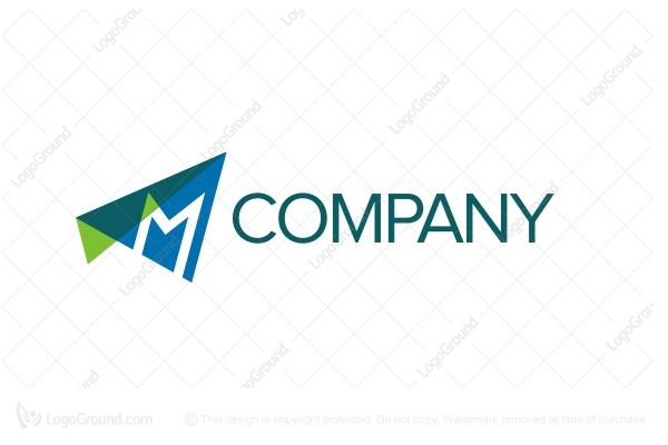 Logo for sale: Filing Letter M Logo