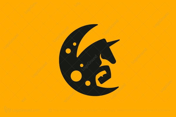 Logo for sale: Unicorn Moon Logo