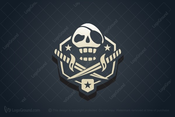 Logo for sale: Pirate Skull Logo