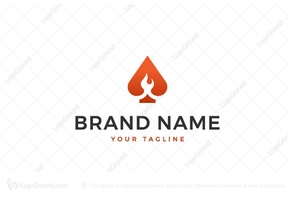 Logo for sale: Flame Game Logo