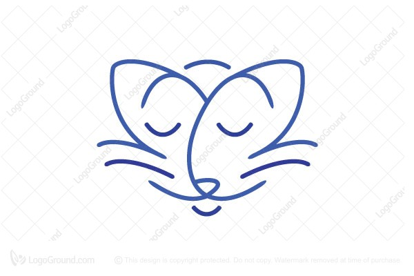 Logo for sale: Satisfied Cat Logo