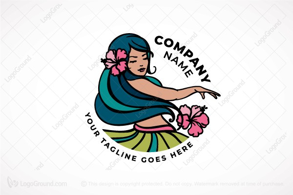 Logo for sale: Hula Girl Logo