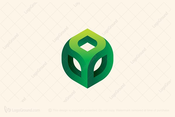 Logo for sale: Green Cube Logo