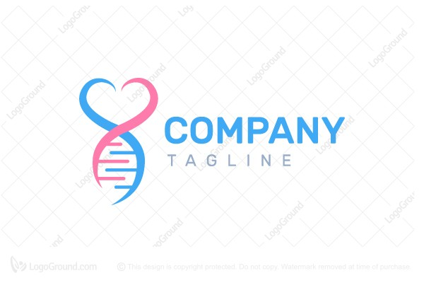 Logo for sale: Heart Dna Logo