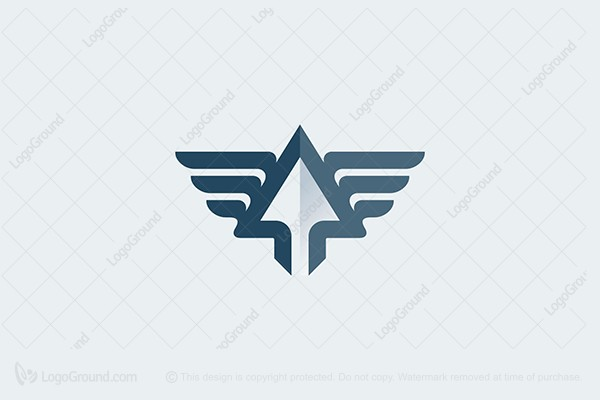Logo for sale: Arrow And Wing Logo