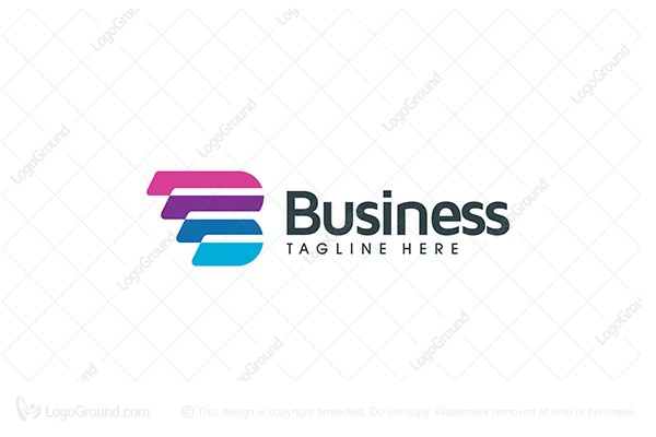 Logo for sale: Letter B Stripes Logo