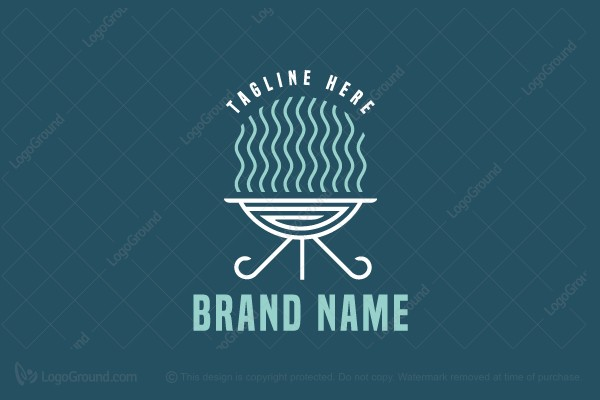 Logo for sale: Greek Barbecue Logo