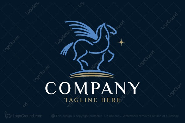 Logo for sale: Blue Pegasus Logo