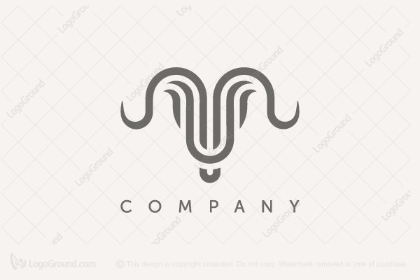 Logo for sale: Abstract Bull Logo