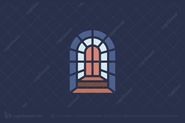 Logo for sale: Church Window Stained Glass Logo