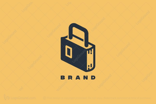 Logo for sale: Padlock Security Book Logo