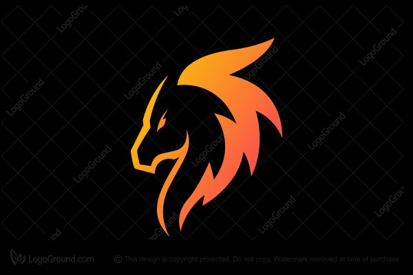 Logo for sale: Fire Horse Logo