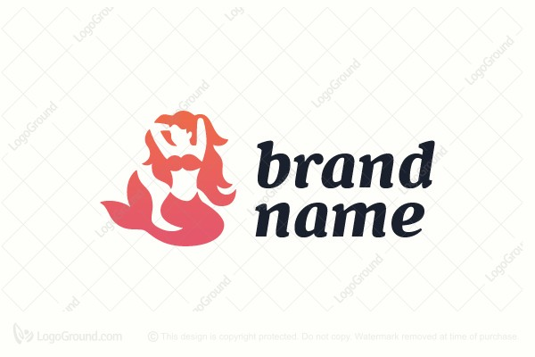 Logo for sale: Charming Mermaid Logo