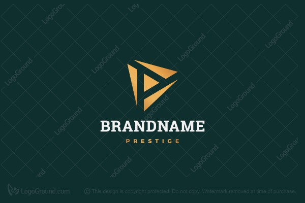 Logo for sale: Letter P Negative Space Logo