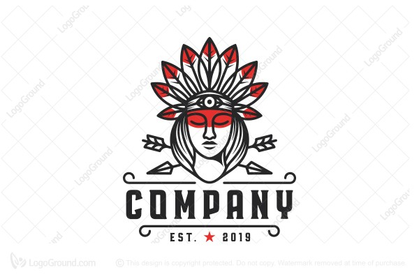 Logo for sale: Beauty Indian Logo