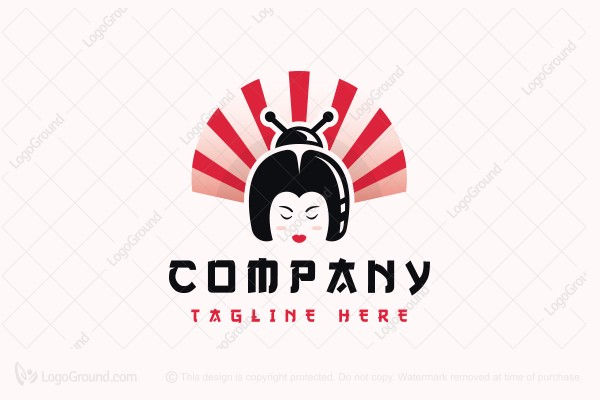 Logo for sale: Geisha Bug Hair Logo