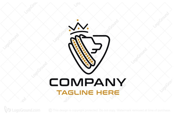 Logo for sale: Lion King Shield Line Logo