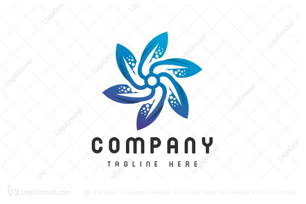 Logo for sale: Water Flower Logo