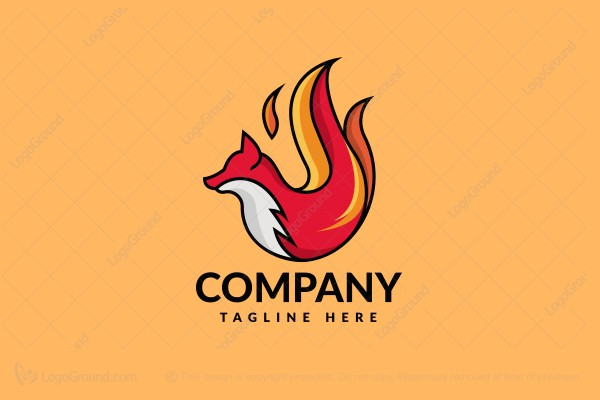 Logo for sale: Fox Flame Logo
