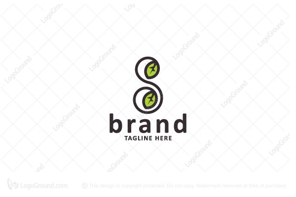 Exclusive Logo 188300 Letter S With Leaves Logo
