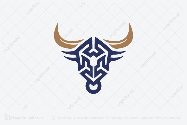 Logo for sale: Bull Abstraction Logo