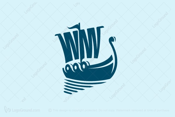 Logo for sale: Viking Ship Logo