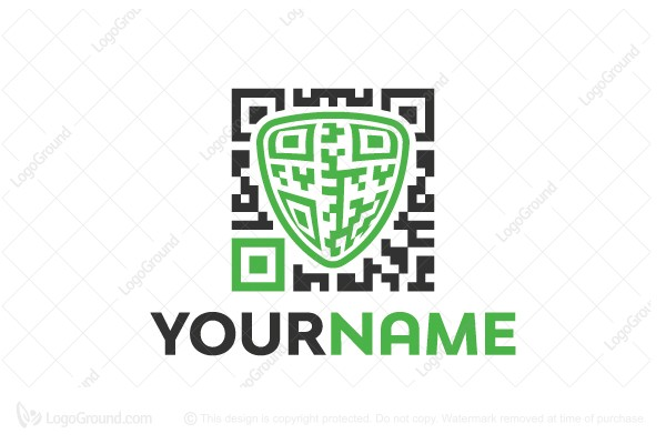 Logo for sale: Qr Code Protection Logo