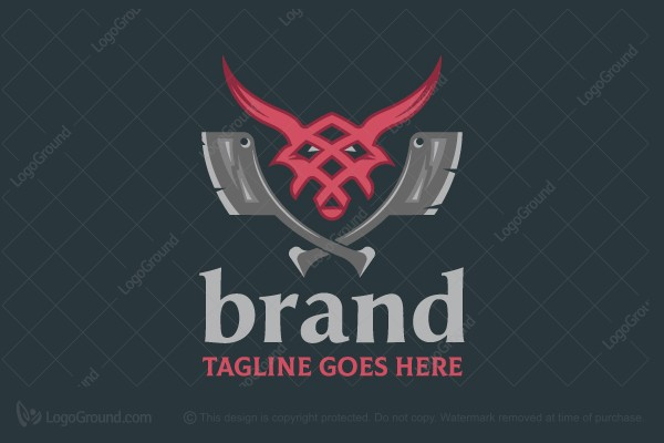 Logo for sale: Hot Beef Steak Logo