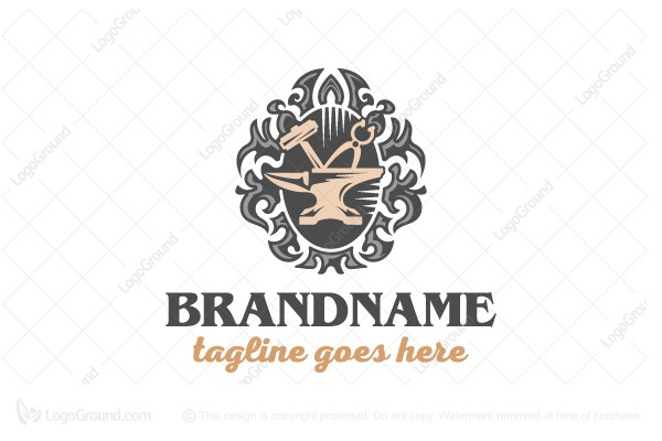 Logo for sale: Artwork With Metal Logo