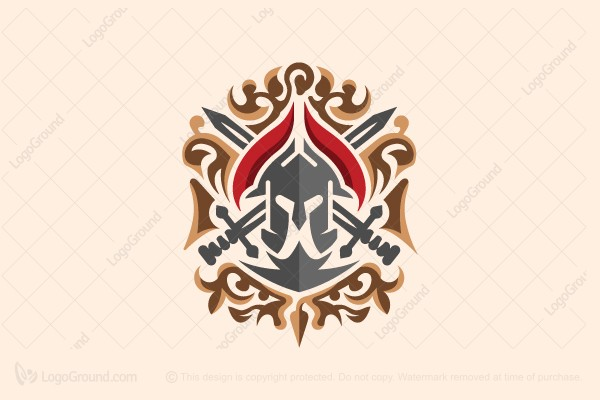 Logo for sale: Spartan Heraldry Logo
