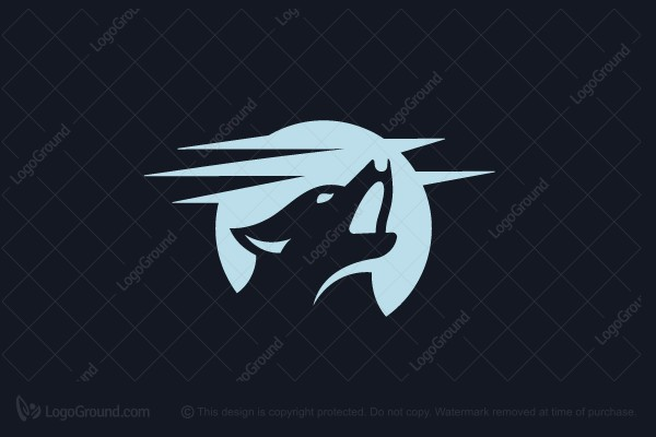 Logo for sale: Wolf And Moon Logo