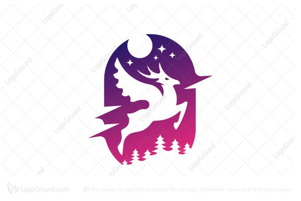Logo for sale: Winged Deer Logo