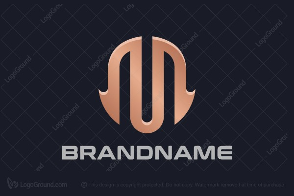 Logo for sale: Golden Letter M Logo