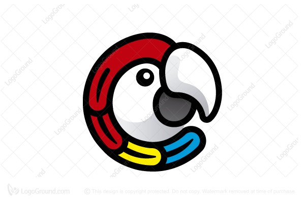 Logo for sale: Colorful Macaw Logo