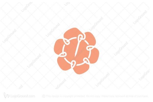 Logo for sale: Flower Knitting Logo