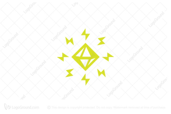 Logo for sale: Thunder Gemstone Logo