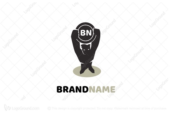 Logo for sale: Stand Hero And Shield Logo