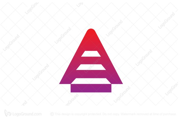 Logo for sale: Stair And Letter A Logo