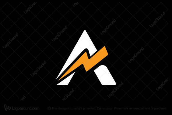 Exclusive Logo 155752, Letter A Lightning Logo
