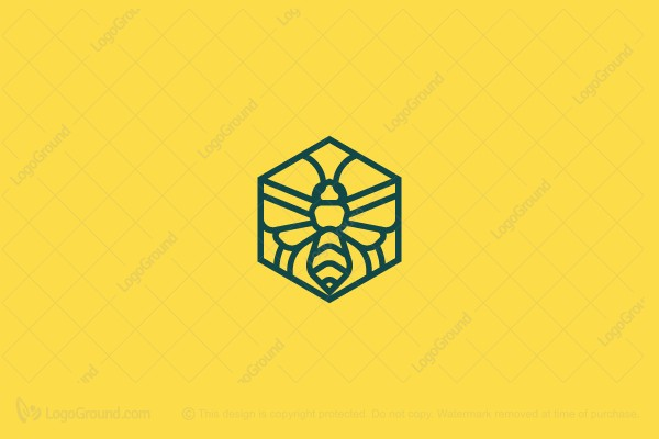 Logo for sale: Mosaic Bee Logo