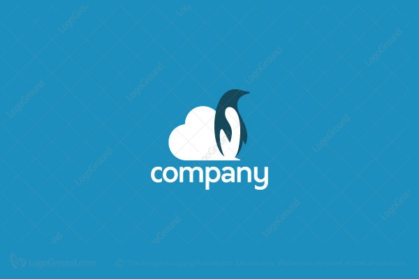 Logo for sale: penguin Cloud Logo